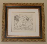 """""""Scene Bacchique au Minotaure"""" Etching by Pablo Picasso"""