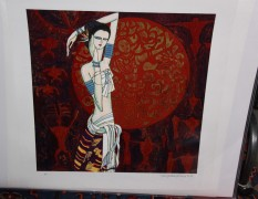 """""""June Bride"""" Serigraph on Paper by Ting Shao Kuang"""