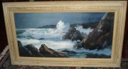 """Untitled"" Framed Original Oil/Canvas Seascape by Marshall Merritt"
