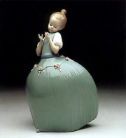 """Daisy"" Signed Glazed Porcelain by Llardro"