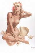 """""""Sea Shells"""" Deluxe Lithograph on Odalisque by Alberto Vargas"""