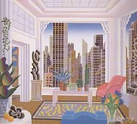 """Art Deco Room"" serigraph by Thomas McKnight"