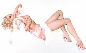 """Legacy Nude #1, """"Sleeping Beauty"""" Lithograph/Arches by Alberto Vargas"""