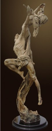 """Reminiscence"" bronze sculpture by Tuan"