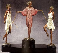 """Printemps"" a Bronze Sculpture by Erte"
