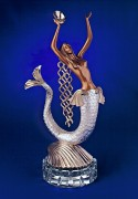 """Mermaid"" Bronze Sculpture by Erte"