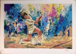 """Marty Hogan"" Serigraph by Wayland Moore"