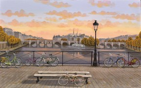 """Pont des Arts"" digital pigment print on canvas by Liudmila Kondakova"
