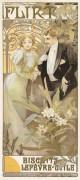 """""""Flirt Biscuits"""" c. 1900 by Alphonse Mucha"""