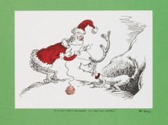 """If I Can't Find a Reindeer, I'll Make One Instead"" Lithograph by Dr. Seuss"