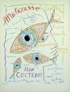 """Matarasso, Nice"" Color Lithograph by Jean Cocteau"