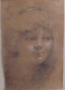 """Untitled Portrait I"" Original Pastel by William Henry Clapp"