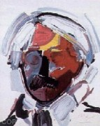 """Andy With Mustache"" Serigraph on Paper by Peter Max"