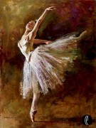 """""""Balerina"""" Hand-Embellished Giclee/Canvas by Andrew"""