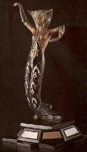 """La Jalouisie"" bronze sculpture by Erte"
