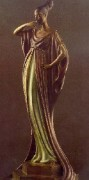 """An Evening In 1922"" Bronze Sculpture by Erte"
