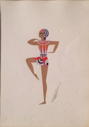 """Costume Egyptien"" November 1934 Original Gouache by Erte"