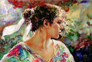 """Nostalgia"" Hand-Pulled Serigraph on Paper by Royo"