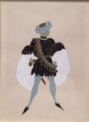 """Monsieur de Busseroles"" 1936 Original Goauche by Erte"