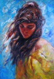 """Viento de la Vante"" Original Oil on Canvas by Royo"