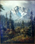 """Untitled Mountain Landscape"" Original Oil on Canvas by Tom Dooley"