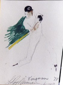 """Dave Kingman"" Chicago '78 Original Pen on Paper drawing by LeRoy Neiman"