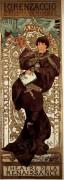 """Lorenzaccio"" Original Lithograph by Alphonse Mucha"
