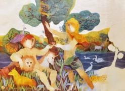 """""""Garden of Eden"""" Lithograph by Alvar Sunol"""