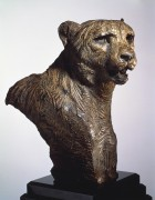 """Cheetah, Bust"" Bronze Sculpture by Richard MacDonald"