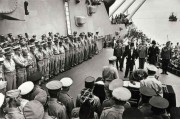 "Carl Mydans Silver Geletan Print ""Japanese Surrender on Board the U.S.S. Missouri in Tokyo Bay, September 2, 1945"""