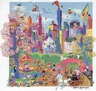 """Looney Tunes Takes Manhattan"" Serigraph by Melanie Taylor Kent"