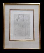 """""""""""Vieux Sculpteur Au Travail I""""  1933 Etching on Montval paper. plate 47 from La Suite Vollard by Pablo Picasso"""