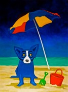 """""""Looking For A Beach House"""" Lithograph with Remarque by Blue Dog Artist George Rodrigue"""