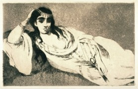 """Odalisque"" Stock photo of this etching and aquatint by Edouard Manet"