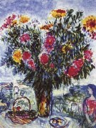 """Le Grand Bouquet"" Estate-Signed Lithograph by Marc Chagall"