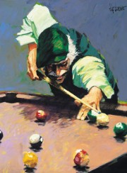 """Billiards"" Giclee by Aldo Luongo"