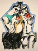 """Music Between Lovers"" Hand Painted Serigraph by Yuroz"