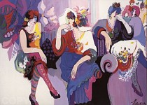 """At the Ball"" Serigraph on Paper by Isaac Maimon"