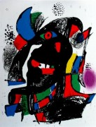"""Miro Lithographs Volume IV – Lithograph II""  1981 Color Lithograph by Joan Miro"