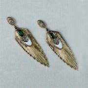 """""""Rayonnement Earrings"""" State IX  Fine Art To Wear Earrings by Erte"""