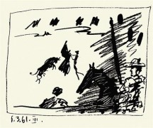 """""""Toreros: 6.3.61 III"""" 1961 Lithograph on Wove Paper by Pablo Picasso"""