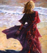 "'Sunset Breeze in Red"" Giclee/Canvas by Aldo Luongo"