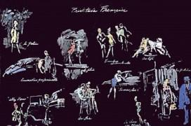 """""""Prostituees Francaise (La Nuit de Paris)"""" Lithograph by LeRoy Neiman"""