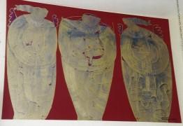 """""""La Visitation"""" Original Oil/Canvas by Orlando, A.B."""