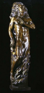 """Adam Fragment"" Life Size Bronze Sculpture by Frederick Hart"