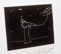 """Solo Kite Flyer"" etching from Seven Dreams Suite of framed etchings by Peter Max"