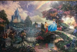 """Cinderella Wishes Upon A Dream"" Canvas Print by Thomas Kincade"