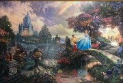 """Cinderella Wishes Upon A Dream"" Canvas Print by Thomas Kincade"
