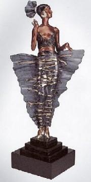 """Femme Fatale"" Bronze Sculpture by Erte"