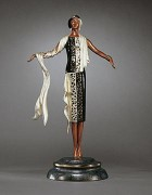"""On The Avenue"" Bronze Sculpture by Erte"